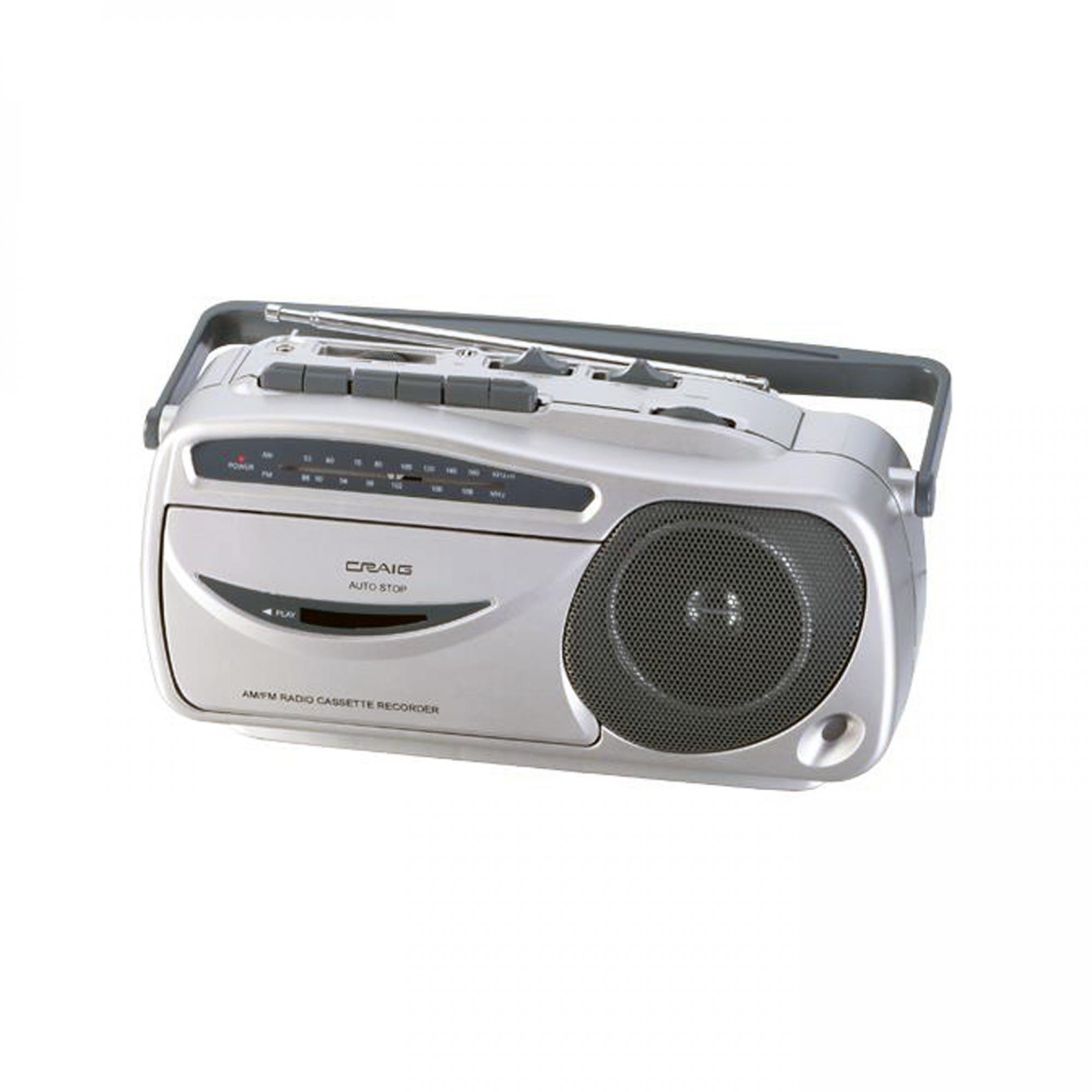 Craig Portable AM/FM Radio Cassette Recorder and Player