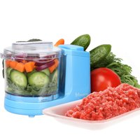 MYONAZ Mini Chopper 1/2 Cup One-Touch Mini Food Chopper for Blending Vegetable Fruit and Meat (Blue)