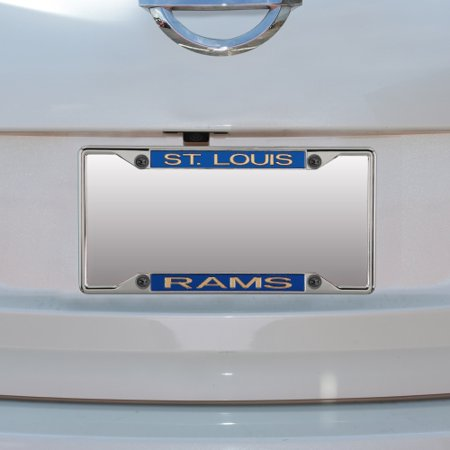 - Classic St. Louis Rams Metal Frame Acrylic Inlaid Mirror License Plate Frame - No Size