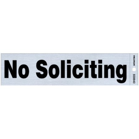Mylar Nickels (hillman 839840 no soliciting self adhesive sign, nickel and black mylar, 2x8 inches)
