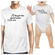 Got Good Looks From Daddy Matching Tops For Dad And Baby Boy Gift