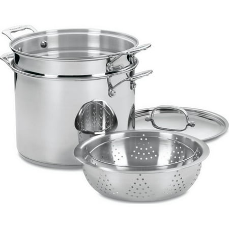 Cuisinart Chef's Classic Stainless Steel 4-Piece 12-Quart Pasta/Steamer Set
