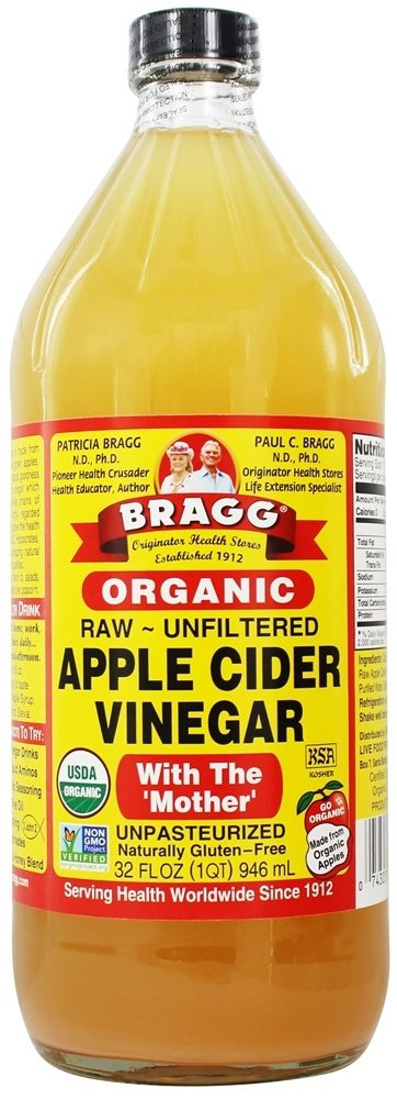 Bragg Organic Raw Apple Cider Vinegar, 32 oz(pack of 12) by