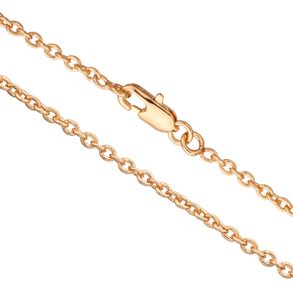 18Inch Necklace Gold Cable Chain With Lobster Claw Clasp