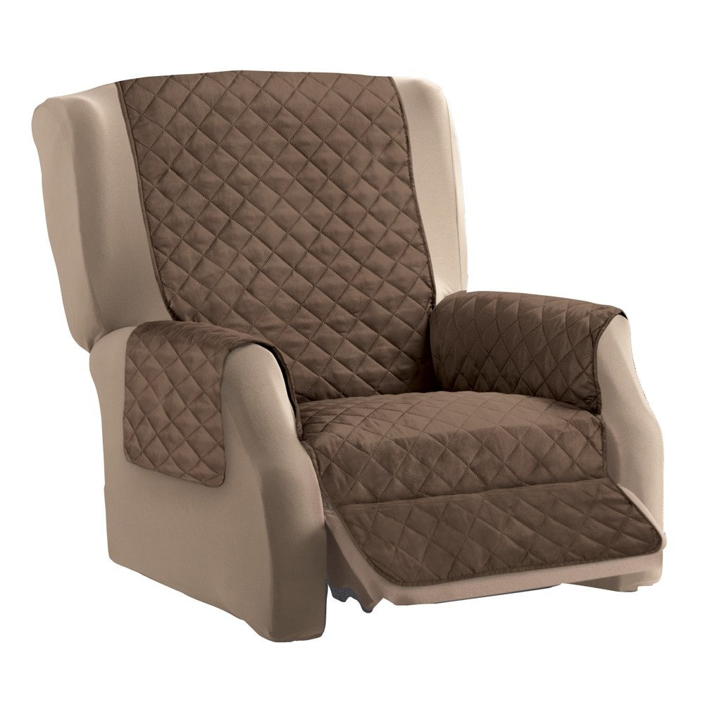 Reversible Quilted Furniture Cover Chocolate/Tan Recliner Quilted Polyester USA  sc 1 st  Walmart & Recliner Covers islam-shia.org