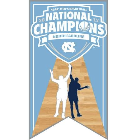 North Carolina Tar Heels 2017 NCAA Men's Basketball National Champions Banner Pin - No Size