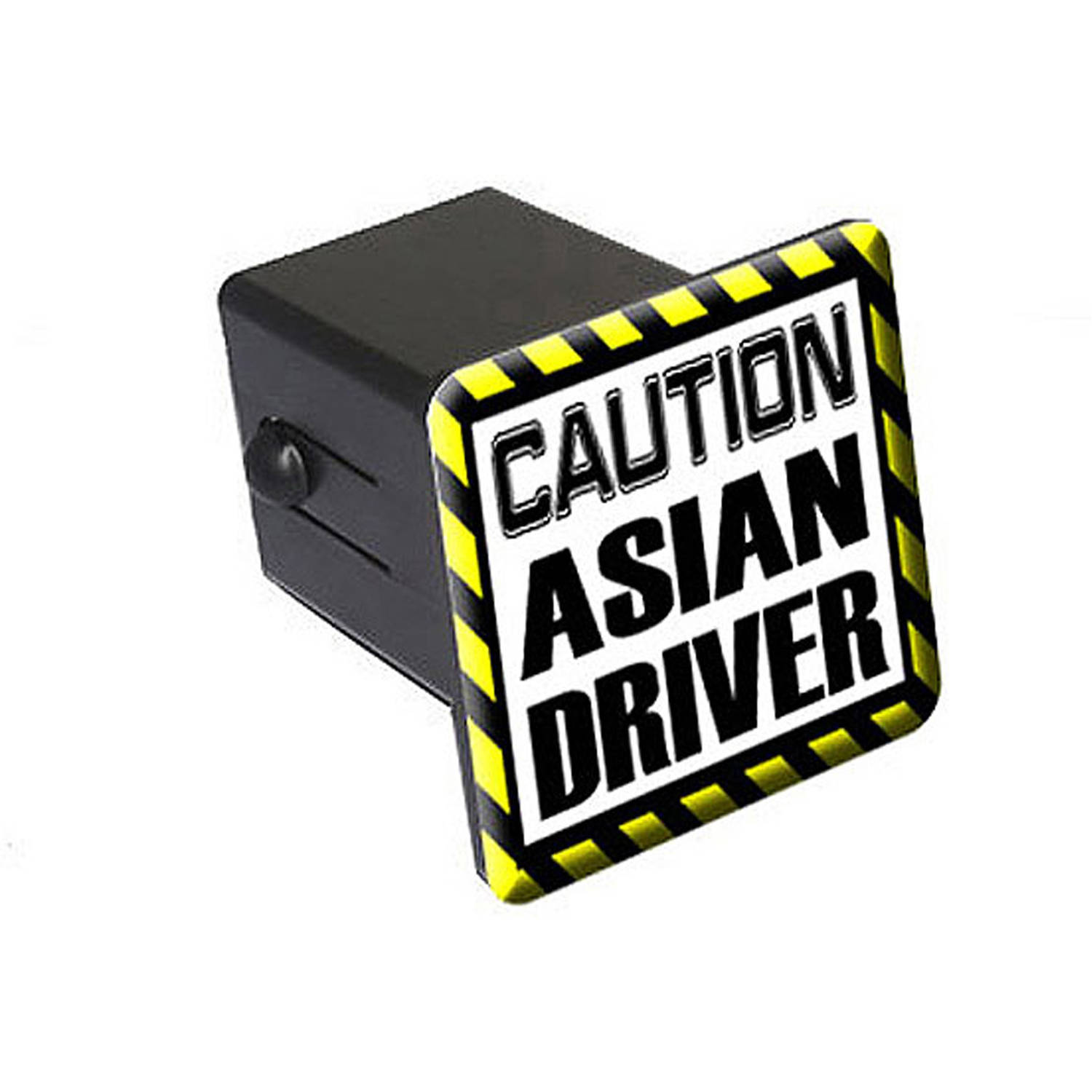 "Caution Asian Driver 2"" Tow Trailer Hitch Cover Plug Insert"