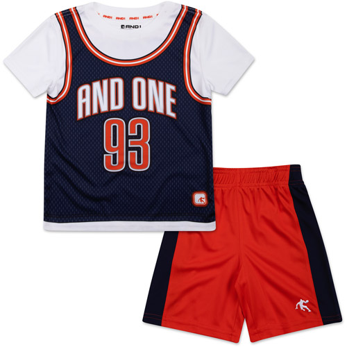 AND1 Baby Toddler Boy Graphic Tee and Shorts Sporty Outfit Set