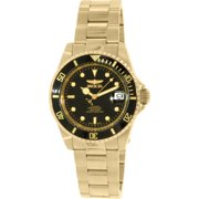 8929OB Mens Pro Diver Automatic Blk Dial 18K Gold Plated Coin Edge Watch