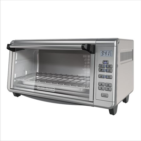 BLACK+DECKER 8-Slice Digital Toaster Oven, Stainless Steel, (Black And Decker Toast R Oven Classic Line)