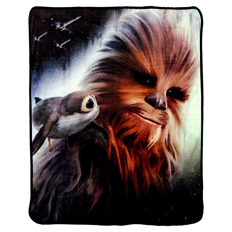 "Star Wars Ep8 Chewie's Back 46"" x 60"" Super Plush Throw Blanket"