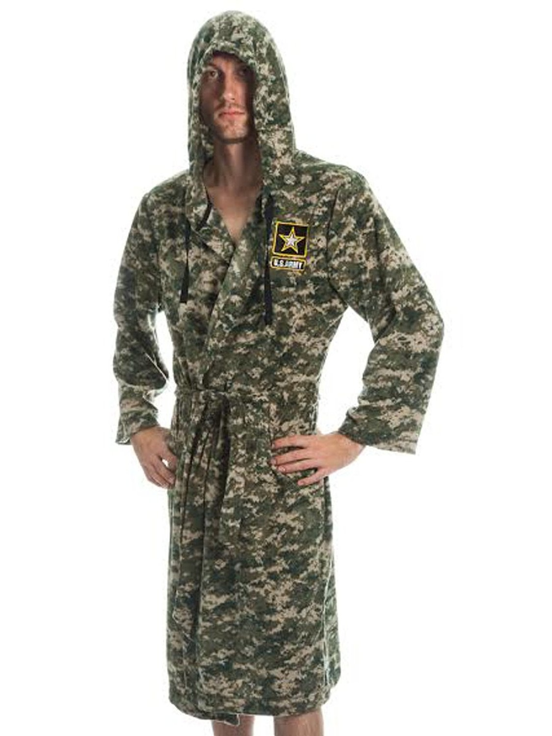 Army - Army Strong Camouflage Fleece Adult Lounge Hooded Bath Robe -  Walmart.com a42056217