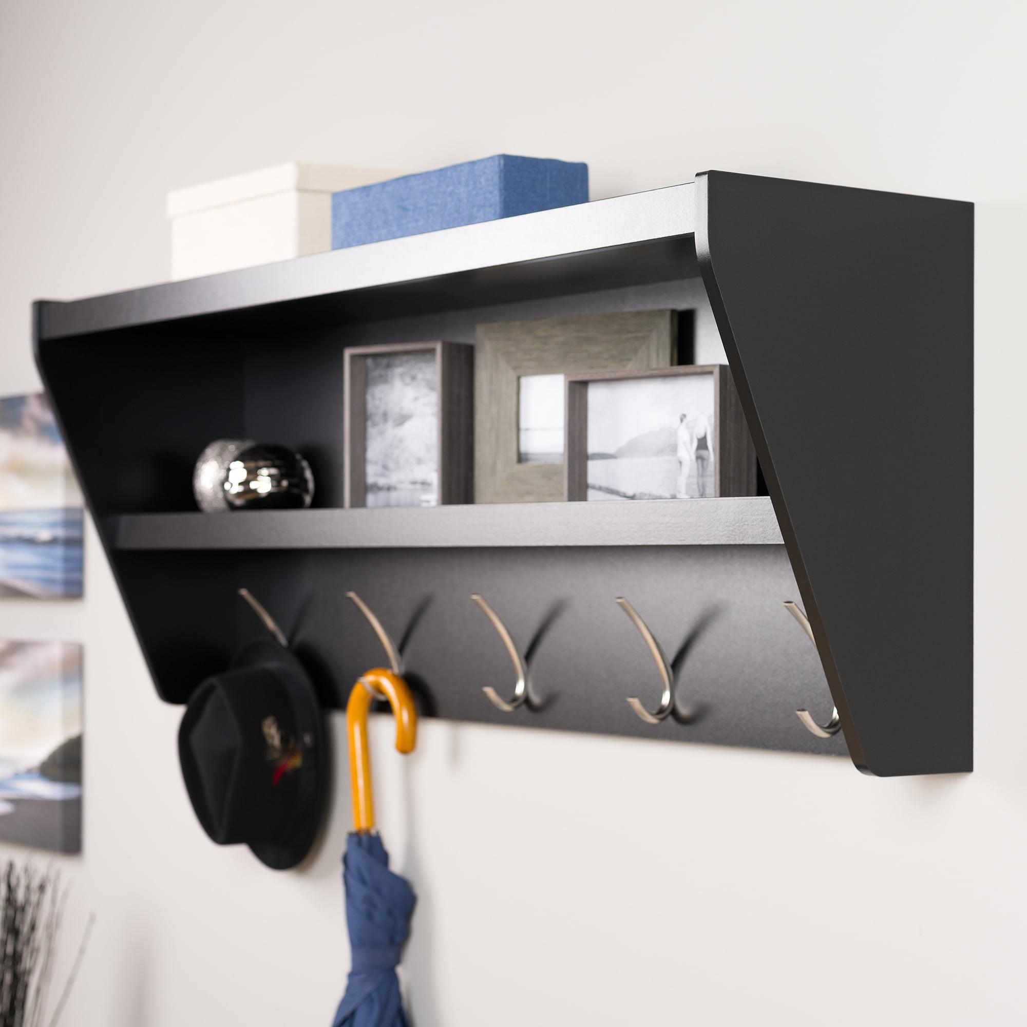 Prepac Floating Entryway Shelf and Coat Rack - Walmart.com