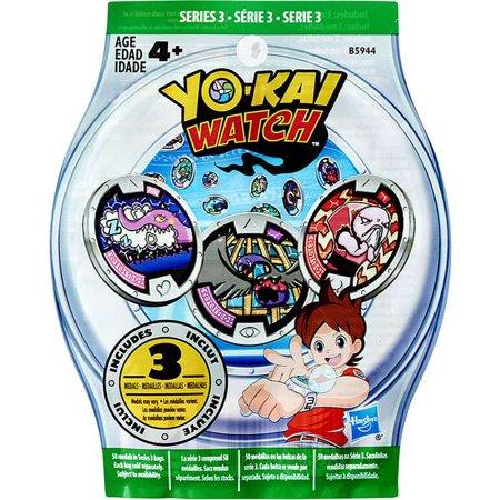 Yo Kai Watch Series 3 Yokai Medals Mystery Pack Walmart Com