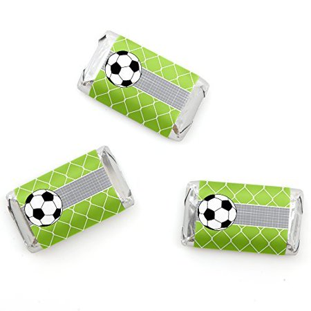 GOAAAL! - Soccer - Mini Candy Bar Wrappers Baby Shower or Birthday Party Favors - 20 Count