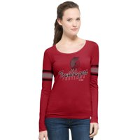 Portland Trail Blazers '47 Women's Hardwood Classics Three Point Long Sleeve T-Shirt - Red