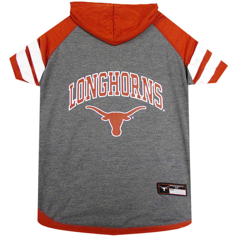 Pets First College Texas Longhorns Pet Hoody Tee Shirt, 4 Sizes Available