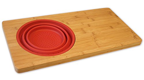 Island Bamboo Kitchen Cutting Board Over The Sink Cutting Boards With Collapsible Strainer Perfect Large Wooden Bamboo Sink Shelf For Chopping Slicing And Dicing Fits Most Sinks Walmart Canada