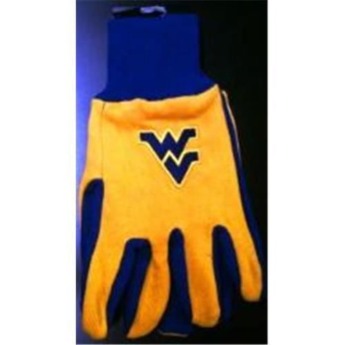 West Virginia Mountaineers Two Tone Gloves Adult by McArthur