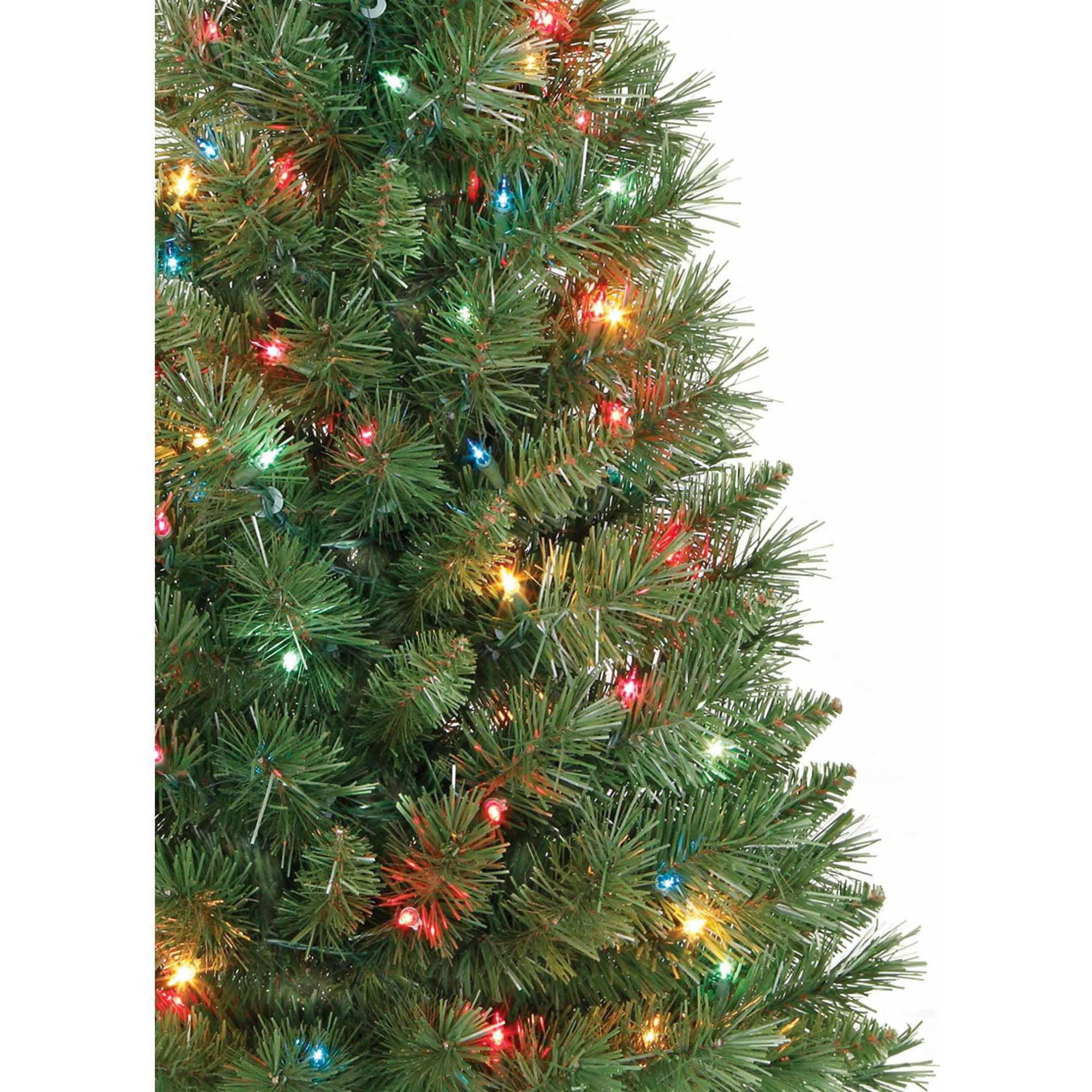 Crestwood small artificial christmas tree with plastic bronze pot - Artificial Christmas Tree Pre Lit 3 Winston Pine Multi Lights Walmart Com
