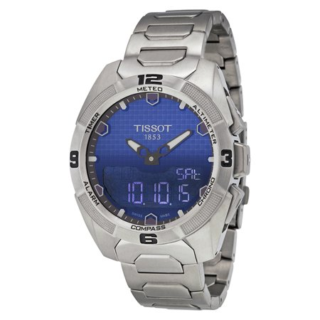 T-Touch Expert Solar Blue Dial Mens Watch (Tissot T-touch Titanium)
