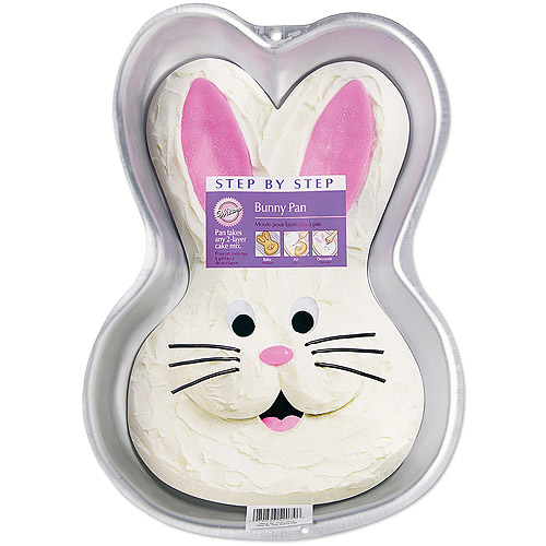 "Wilton Step-by-Step 9.75""x14"" Cake Pan, Bunny 2105-2074"