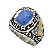 Personalized Men's USA Class Ring in Valadium metals, Silver Plus, Yellow and White Gold