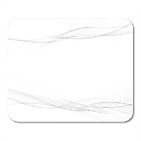 Silver Wave Mat (KDAGR Silver Graphic Grey Swoosh Wave Abstract Stream Line Modern Certificate White Mousepad Mouse Pad Mouse Mat 9x10 inch)