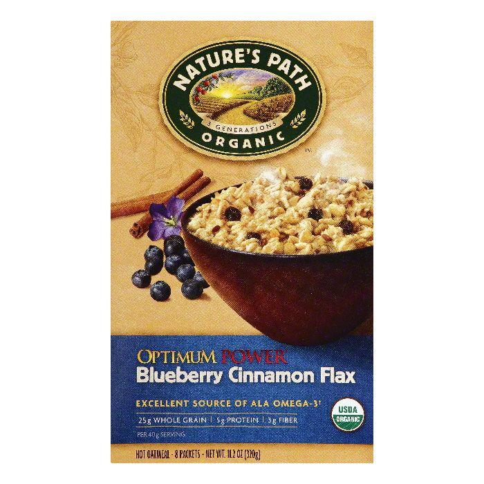 Natures Path Blueberry Cinnamon Flax Optimum Power Hot Oatmeal, 8 ea (Pack of 6)