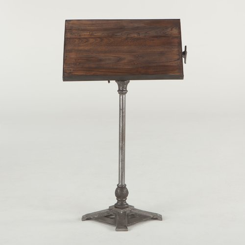 World Interiors Artezia Reclaimed Teak and Iron Adjustable Speaker Stand by