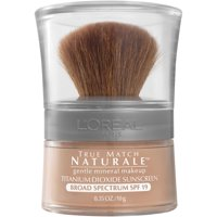 L'Oreal Paris True Match Loose Powder Mineral Foundation Makeup, Light Ivory, 0.35 oz.
