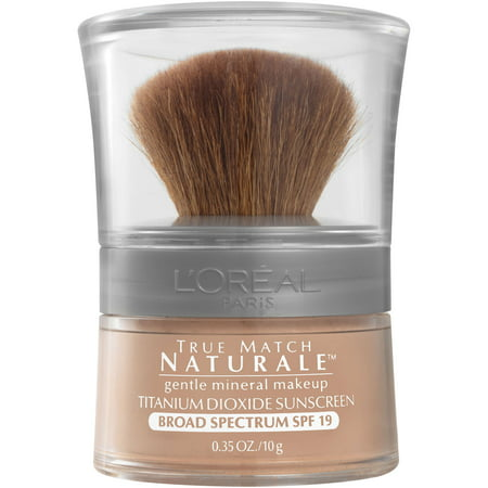 L'Oreal Paris True Match Loose Powder Mineral Foundation Makeup, Light Ivory, 0.35 (50's Style Makeup)