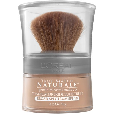 L'Oreal Paris True Match Loose Powder Mineral Foundation Makeup, Light Ivory, 0.35