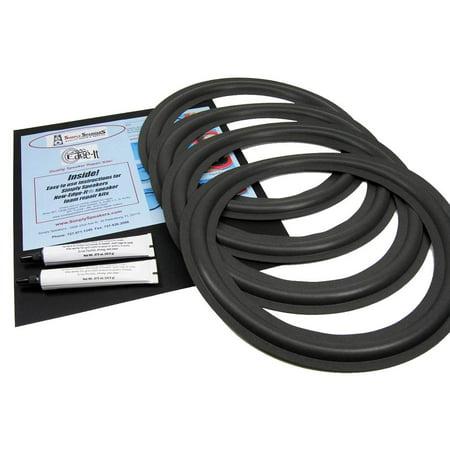 """Sony 12"""" Foam Speaker Repair Kit , Fits SS-U511, SS-U930, others, FSK-12A (4 PACK)"""