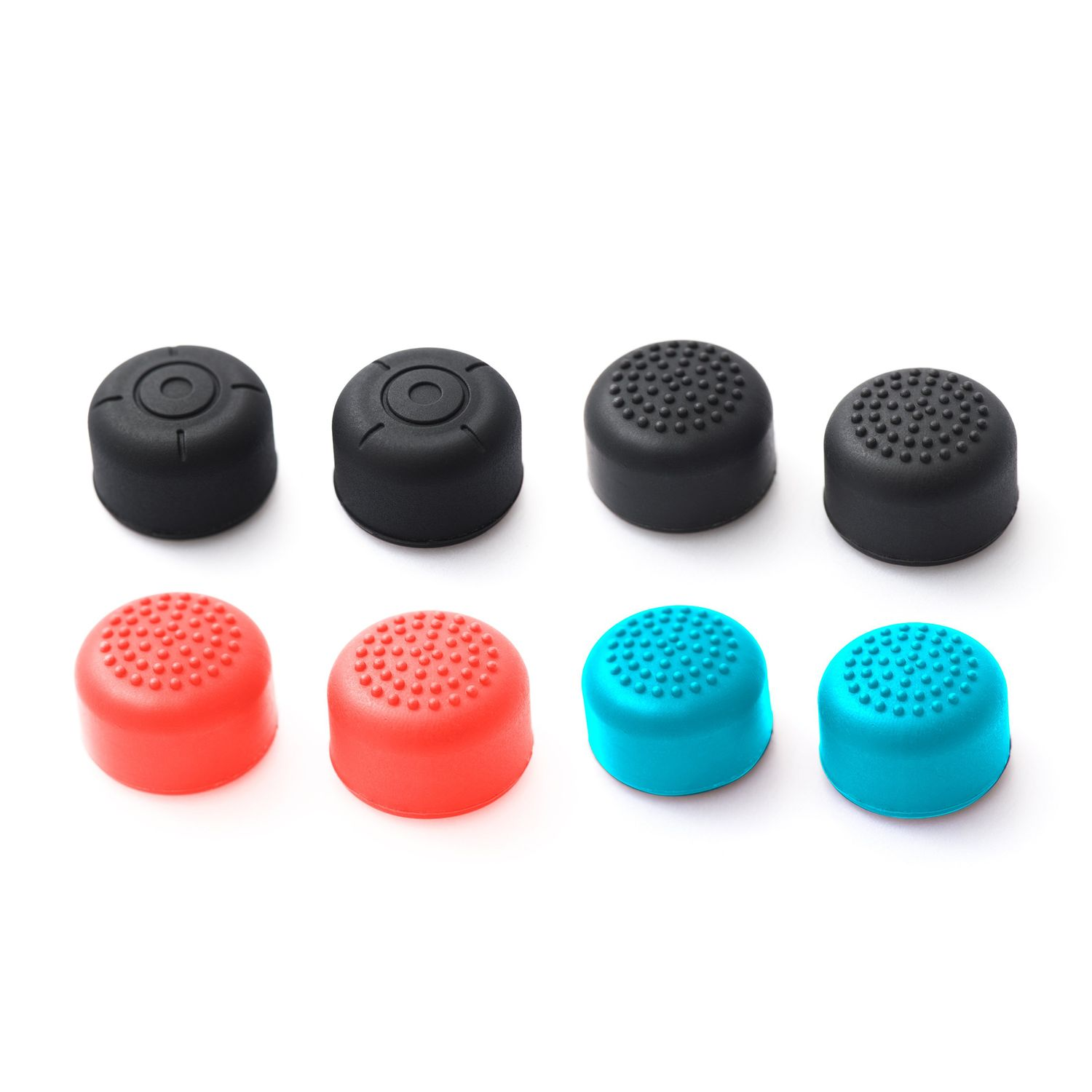 Insten [4 Pairs] Nintendo Switch Joy-Con Thumb Grip Stick Caps [Anti-Slip/Protective] For Nintendo Switch Joy Con Controller Thumb Grip [2017 New Release], Multi-color