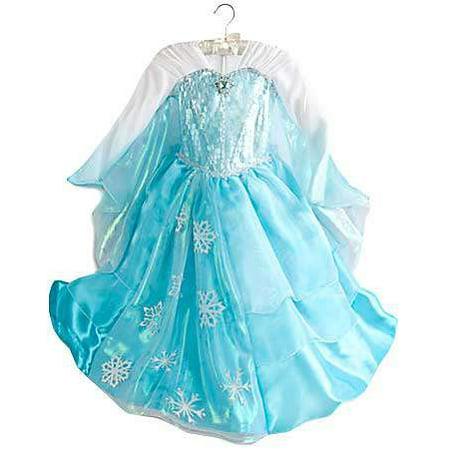 Disney Frozen Elsa Winged Sleeve Dress [Size 3] - Walmart.com