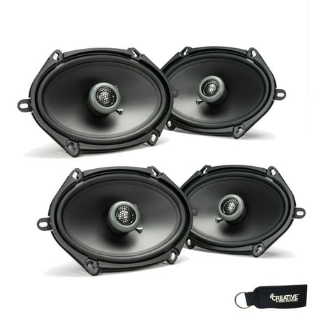 MB Quart - Two Pairs Of Formula 5x7 / 6x8 Inch 2-Way Coaxial Car Speakers -