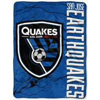 "San Jose Earthquakes The Northwest Company 46"" x 60"" Concrete Raschel Throw Blanket - Blue"