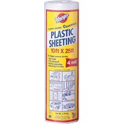 Warp Brothers 12-4CH10C 4 Mil Clear Plastic Sheeting, 10-Foot by 25-Foot