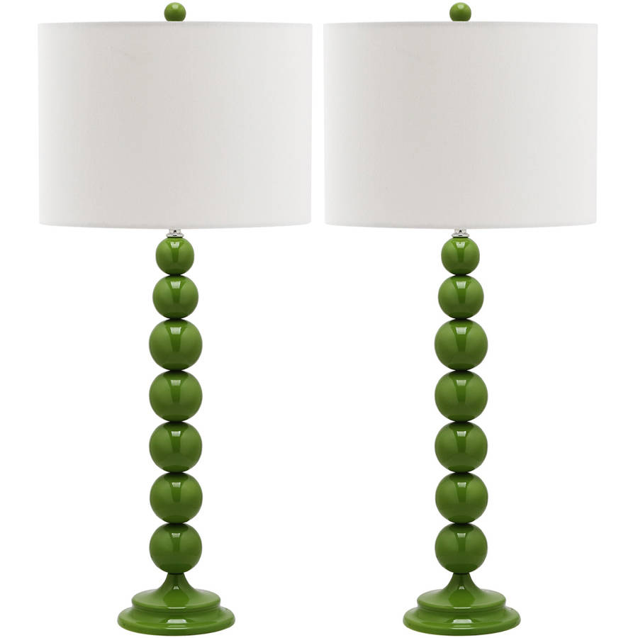 Safavieh Jenna Stacked Ball Lamp with CFL Bulb, Multiple Colors, Set of 2