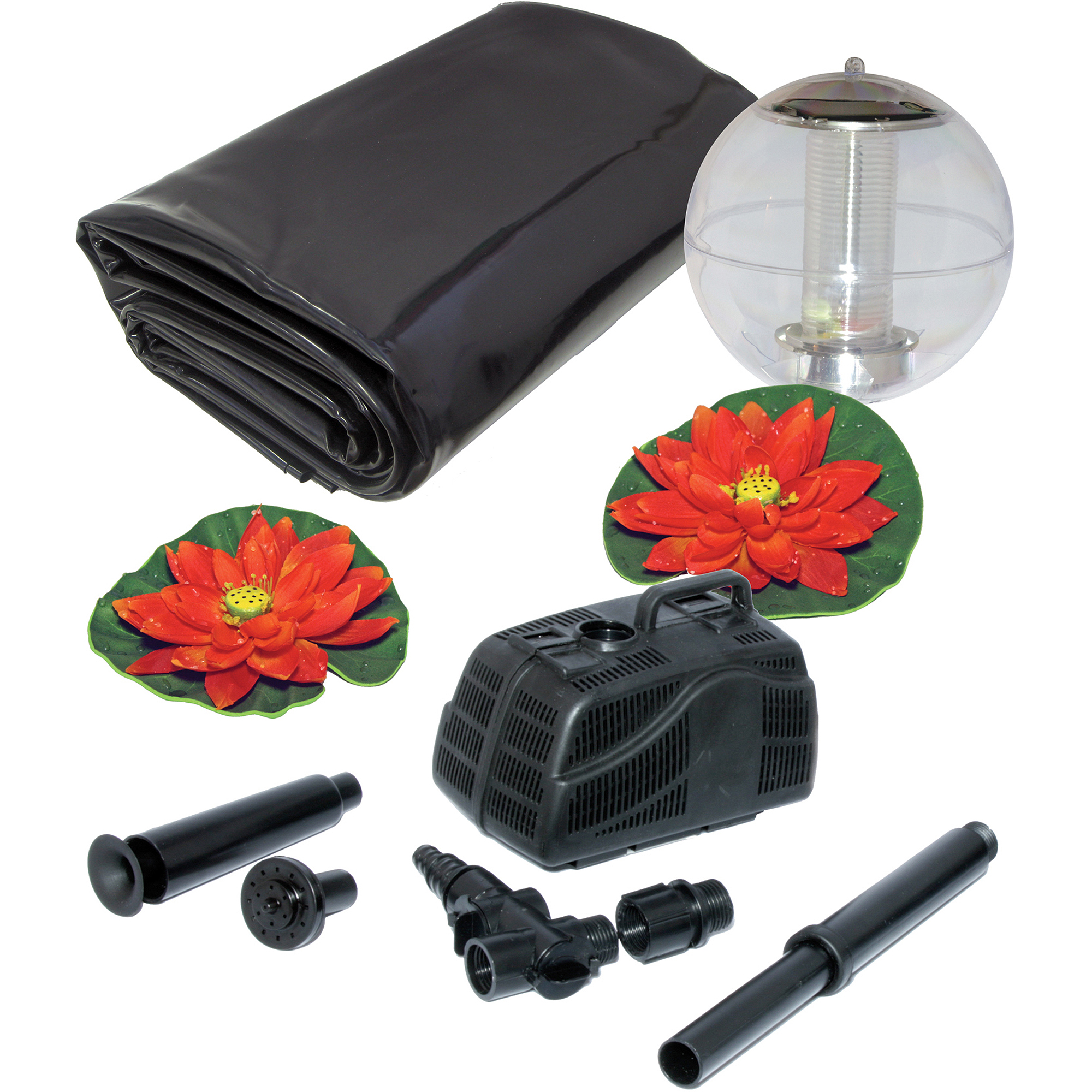 Koolscape 400 gal Liner Pond Kit with Solar Light by Generic