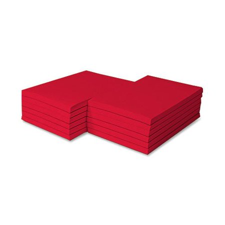 Colored Memo Pads Size 8.5 X 5.5- 100 Sheets Per Pad, 5 Pads Per Pack (Red)