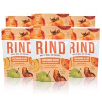 RIND Snacks Orchard Blend Sun-Dried Skin-On Superfruit Snack, Sweet Persimmon, Tart Apple, and Tangy Peach, High Fiber, No Sulfites, Antioxidants from Vitamin C, Gluten-Free, 3oz Pouch, Pack of 6