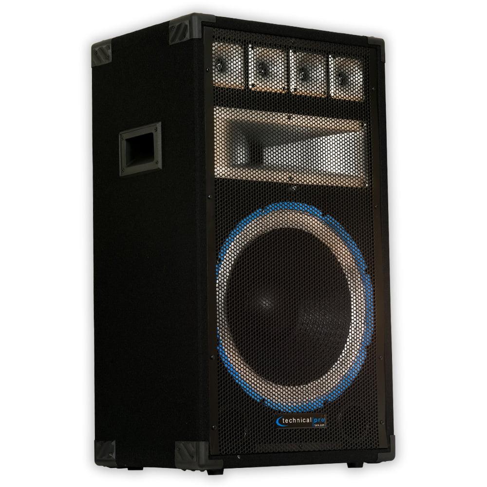 Technical Pro VRTX15 Passive DJ Speaker 1200 Watts PA Karaoke Band Studio Home