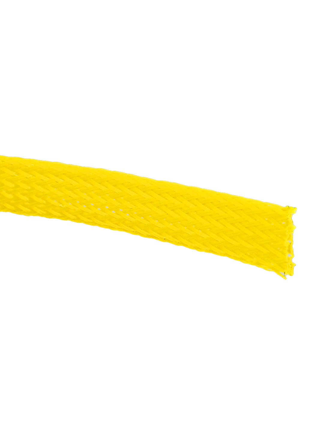 Unique Bargains 03 Width Auto Audio Braided Cable Wire Sheathing Harness Sleeve Yellow