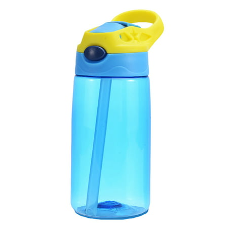 Plastic Water Bottles Wholesale (Kids Children Straw Water Bottle Plastic Drinking Cup Leak Proof Portable Sports Student School Suction Cup 16.2oz 480ml BPA)