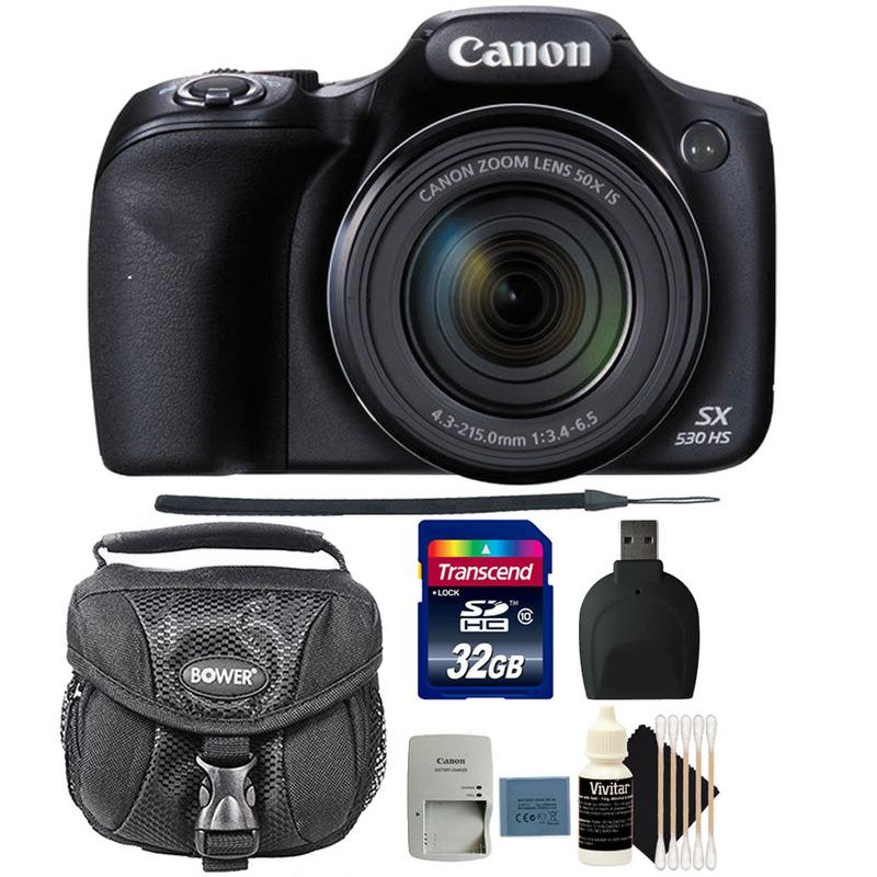 Canon PowerShot SX530 HS 16MP Digital Camera with 32GB Top Accessory Bundle