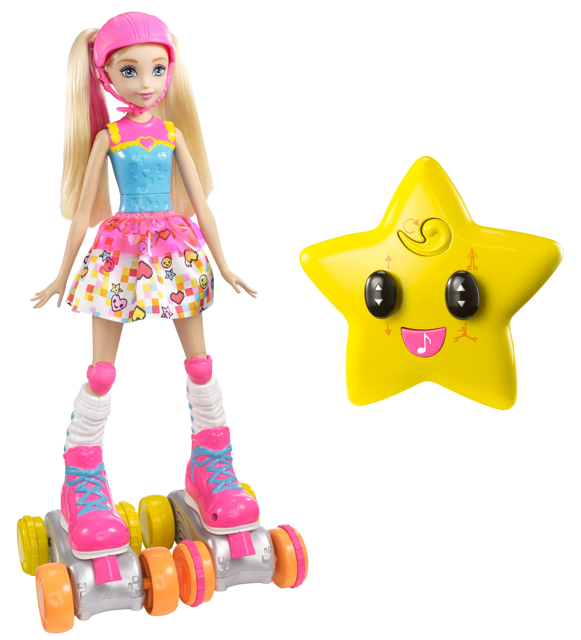 Barbie Video Game Hero Barbie Barbie Remote Control Roller Skating Doll by Mattel