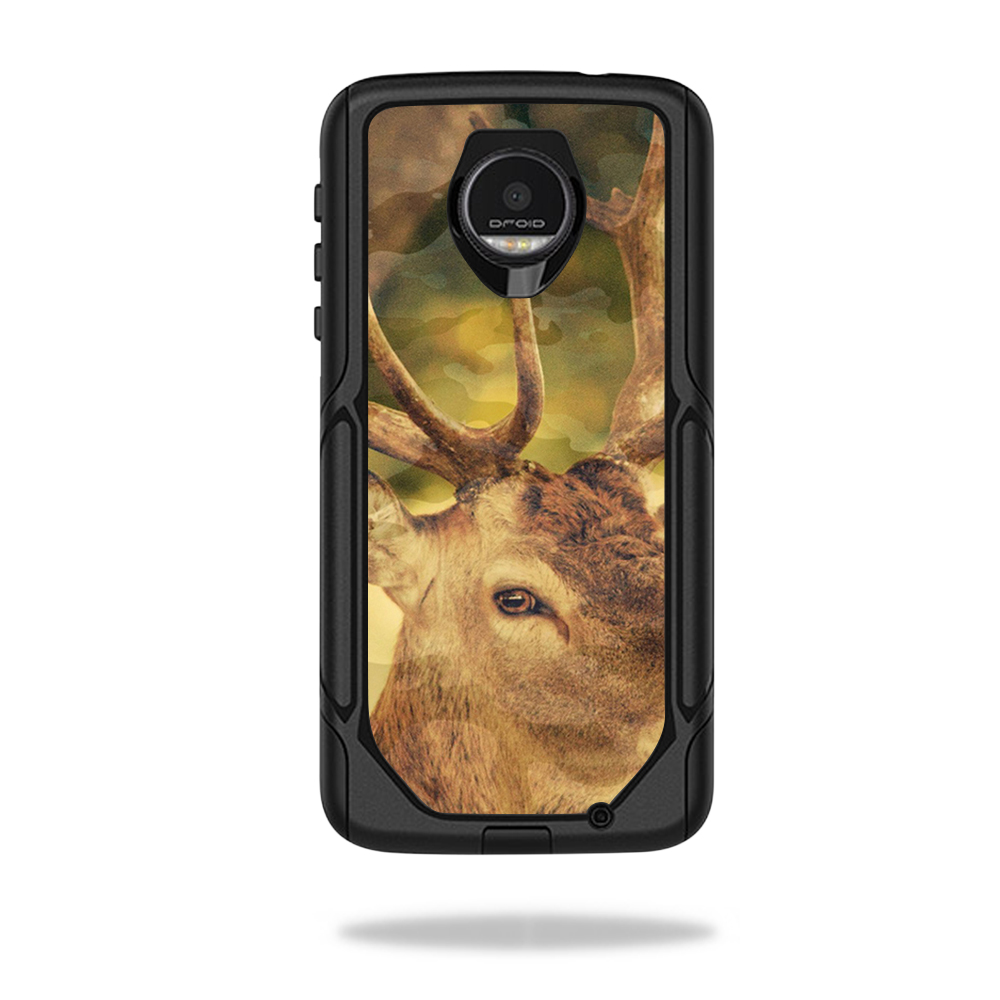 MightySkins Protective Vinyl Skin Decal for OtterBox Commuter Moto Z / Moto Z Droid Edition Case wrap cover sticker skins Deer Camo