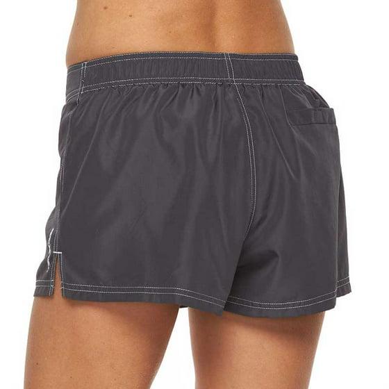e18be35219 ZeroXposur - ZeroXposur Women Solid Board Shorts Black - Walmart.com